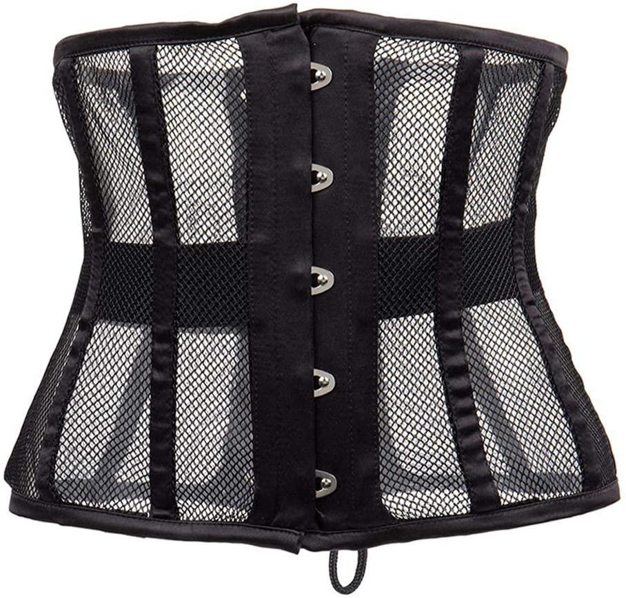 Fad-J Waist Belt, Hollow Waist Trainer Short Torso Tummy Control Wear Outside Corset,Black,XL
