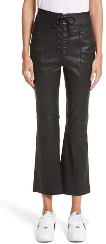 RedSeam Women's Leather Pant Genuine Soft Lambskin Leather Skinny Slim fit Pants WP005
