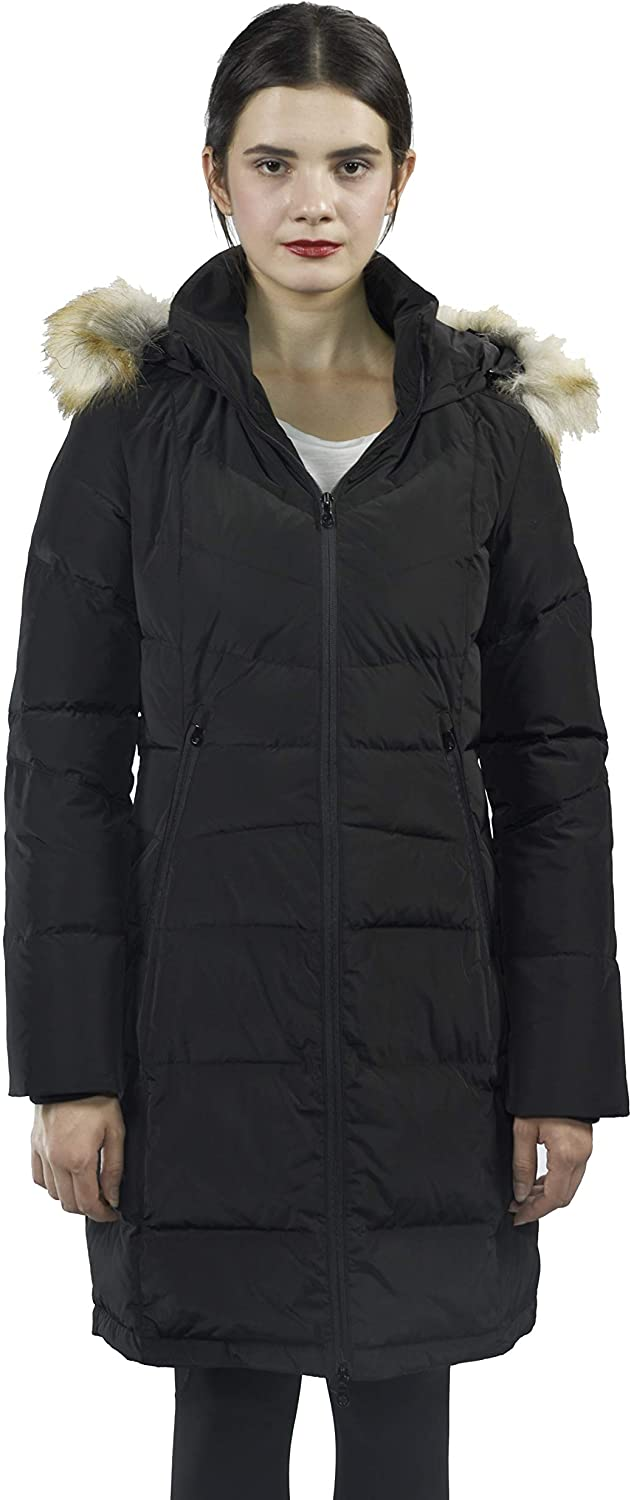K. 421 Women Long Puffer Water Resistant Quilted Winter Coat