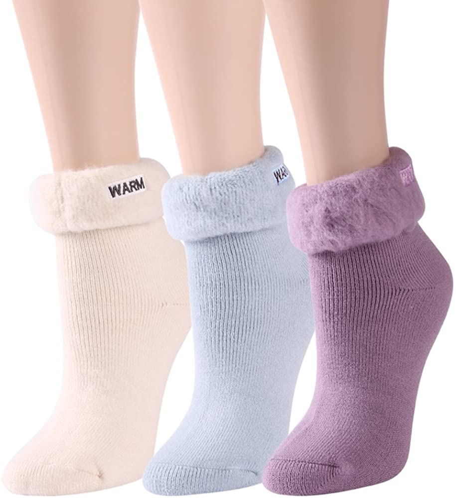 J'colour Women's Thermal Socks, Winter Soft Warm Cute Holiday Gift Napped Hosiery