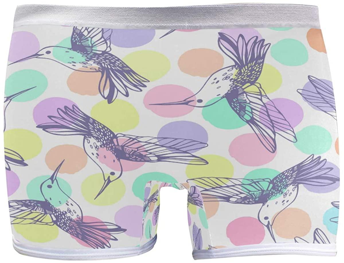 SLHFPX Womens Hipster Panties Underwear Hummingbird Birds Animal Ladies Comfort Boy Shorts Panty