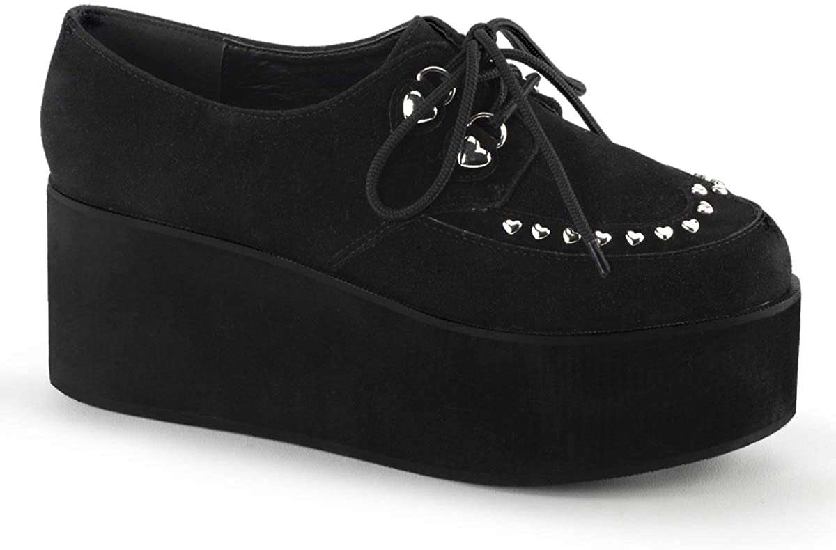 Demonia Women's Grip-03 Platform Shoe Black 8
