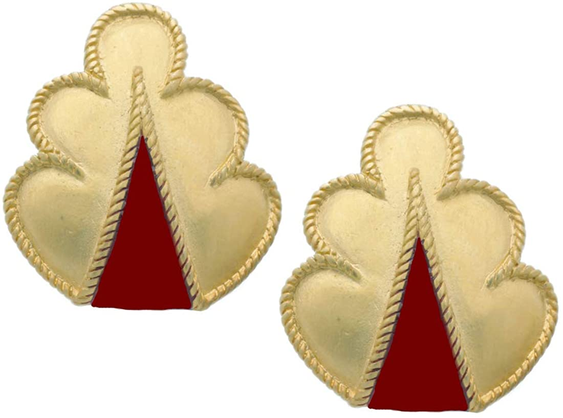 Manufactured in USA - Roman red Large Clip Earrings, from Our Museum Store Greek Colletion