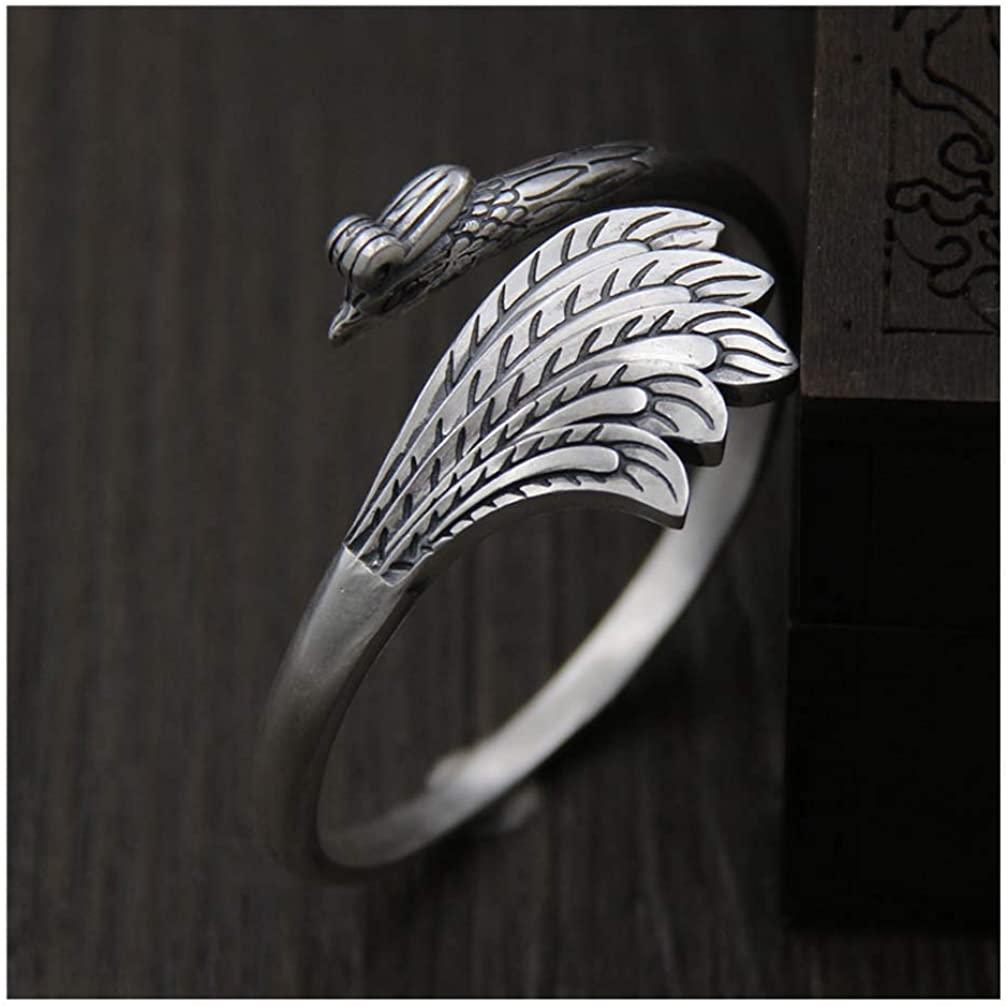 Whiteswallow Phoenix Jewelry Silver Phoenix Bracelet for Women 925 Sterling Silver Bangles Handmade Creative Women's Bracelet