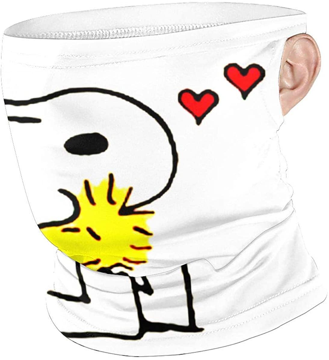 Snoopy Woodstock Unisex Anti Dust Mouth Shield,Sports Hanging Ear Windproof Face Shield