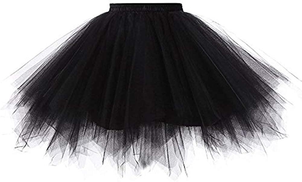Women's Vintage 1950s Short Tulle Petticoat Ballet Bubble Tutu Puffy Tutu Petticoat Tulle Underskirt