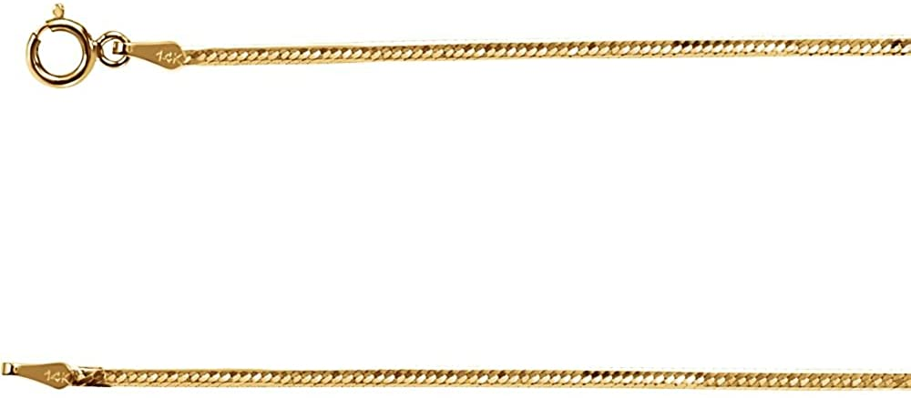 14k Yellow Gold 1.5 mm Flexible Herringbone Chain Necklace18