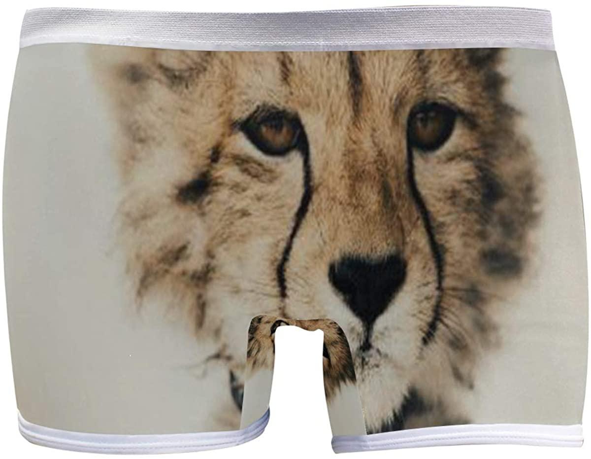 SLHFPX Baby Cheetah Women's Seamless Boyshort Sport Panty Stretch Underwear Boy Shorts
