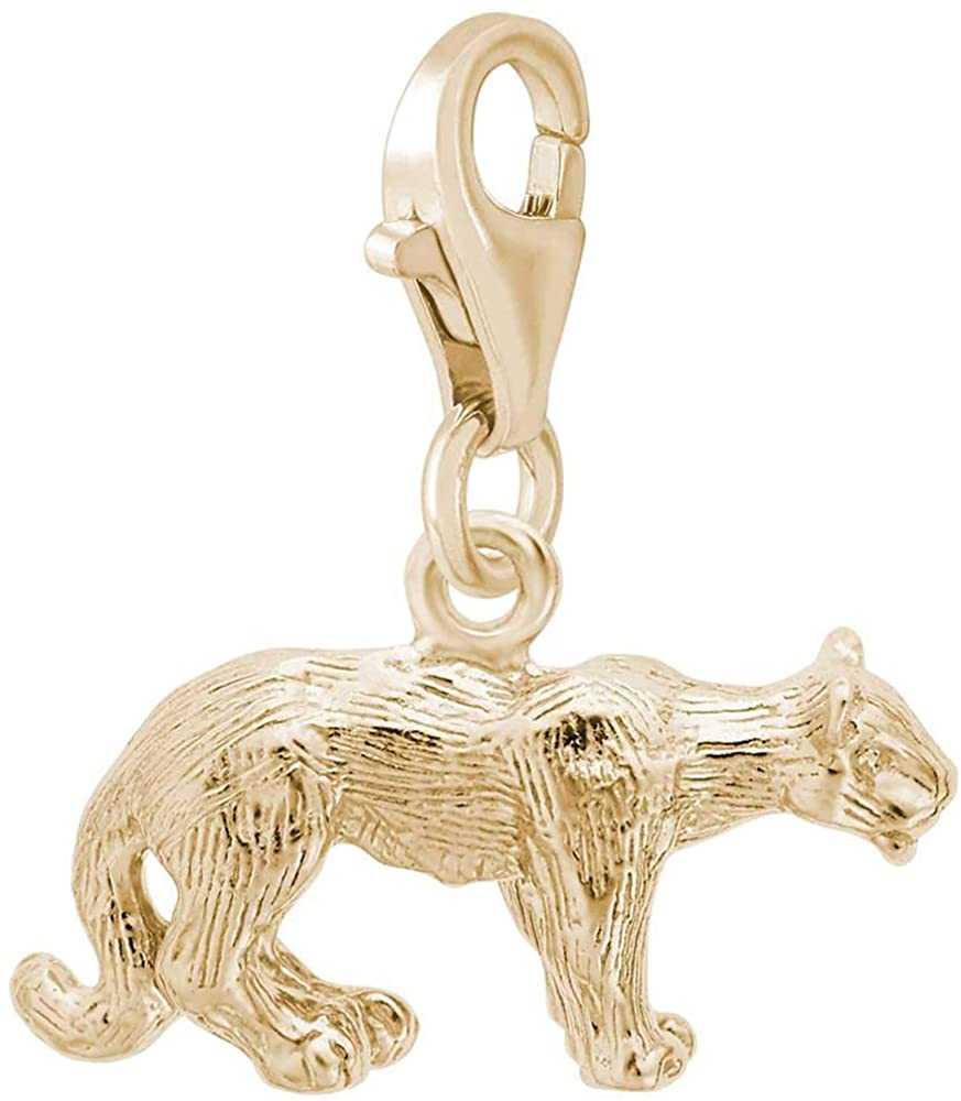 Rembrandt Charms Cougar Charm with Lobster Clasp