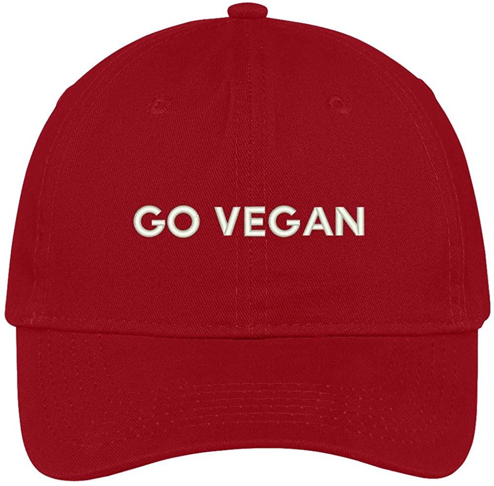 Trendy Apparel Shop Go Vegan Embroidered Soft Low Profile Adjustable Cotton Cap