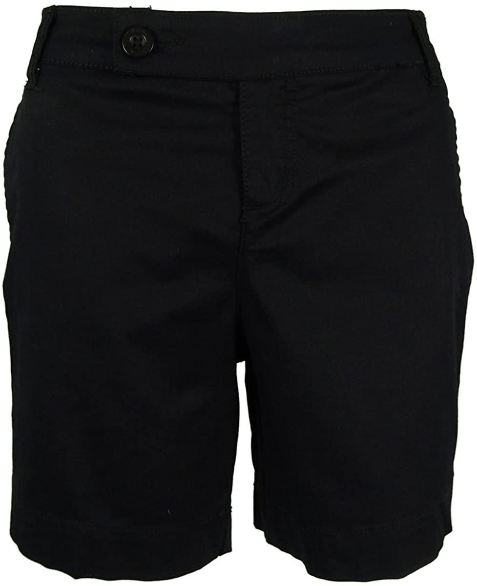Style & Co. Womens Petites Poplin Tummy Control Casual Shorts