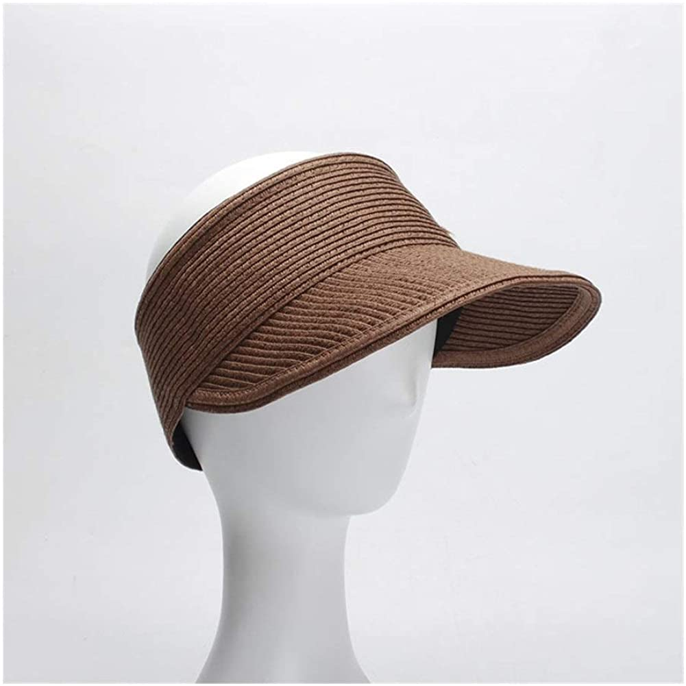 QinMei Zhou Female Summer hat Collapsible Empty top hat Bicycle Sun Protection Sun hat Cap Solid Color hat