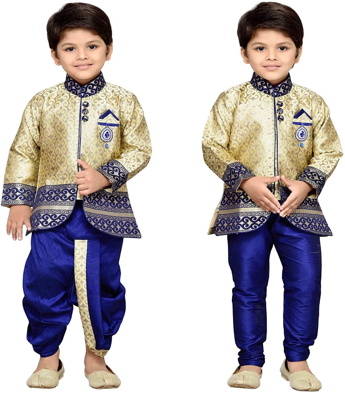 AJ Dezines Kids Indian Wear Bollywood Style Kurta Pyjamas Dhoti for Boys