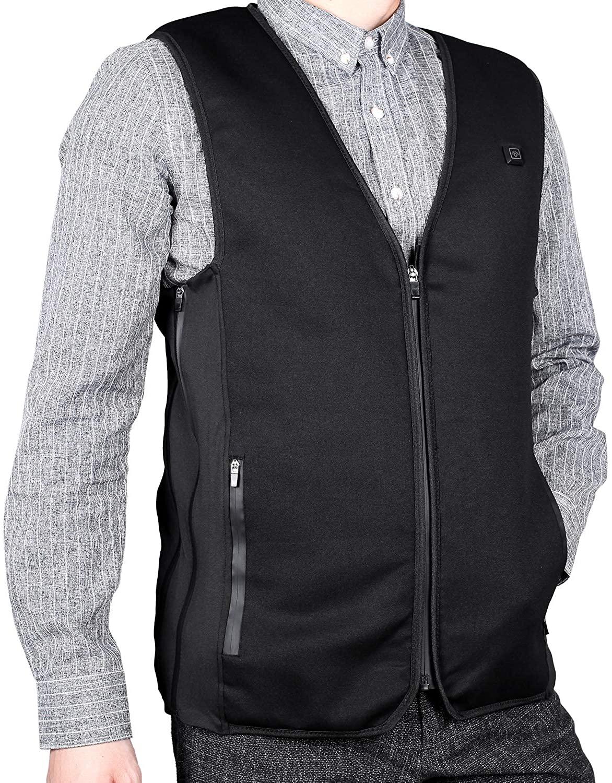 Heatfar USB Heated Vest Lightweight for Men Women, 5V Electric Heating Jacket Washable Body Warmer for Outdoor