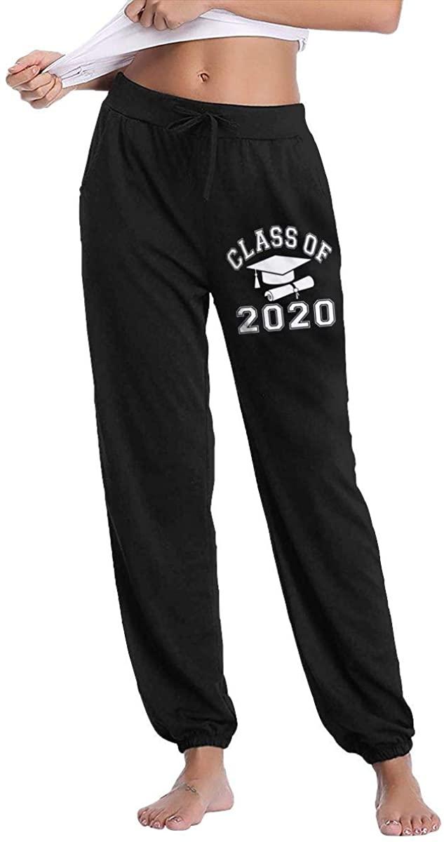 Class of 2020 Graduation Womens Autumn Winter Long Trousers Track Pants Casual Pants Sweatpants