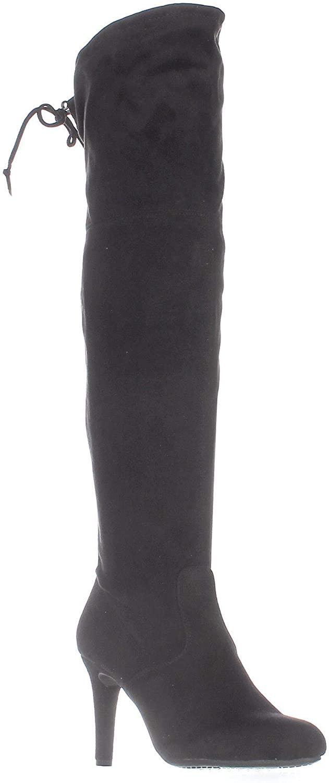 Rialto Womens Calla Fabric Closed Toe Over Knee Fashion Boots