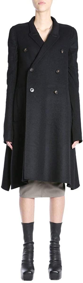 Rick Owens Luxury Fashion Woman RP18F4948DDW09 Black Polyamide Coat | Season Outlet