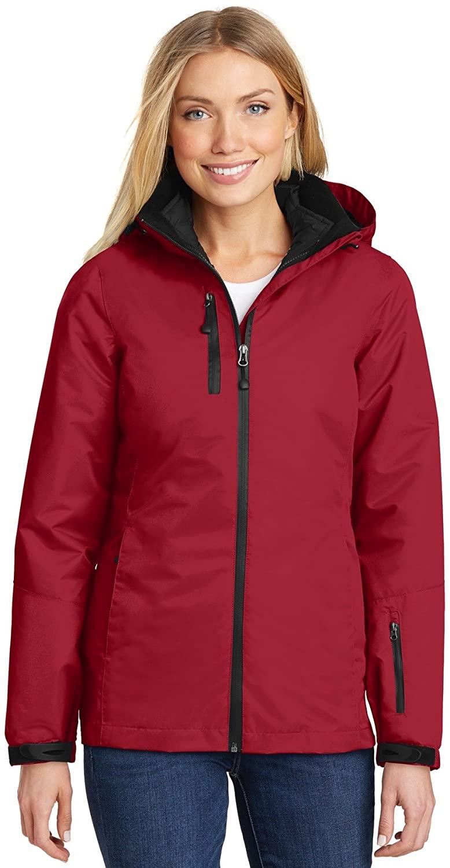 Ladies Vortex Waterproof 3-in-1 Jacket. L332 Rich Red/Black XXXX-Large