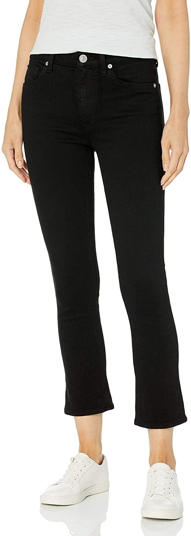 HUDSON Jeans Women's Harper High Rise Crop Baby Kick Flare in Black