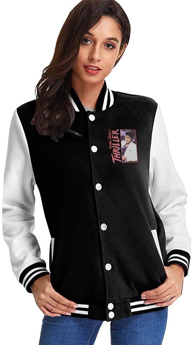 Michael Jackson Thriller Women's Girls Baseball Uniform Jacket Coat Sweater Coat