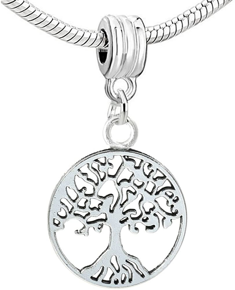 Sexy Sparkles Family Tree Dangle Charm Beads for Snake Chain Charm Bracelet