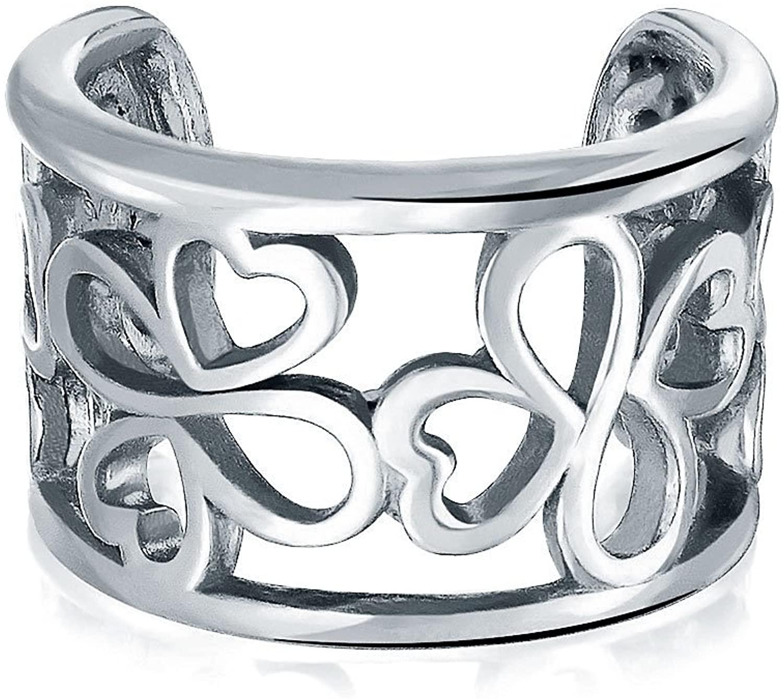 Ayllu Inspirational Symbol Cartilage Lobe Ear Cuffs Filigree Wrap Helix Earrings 925 Sterling Silver Non Pierced