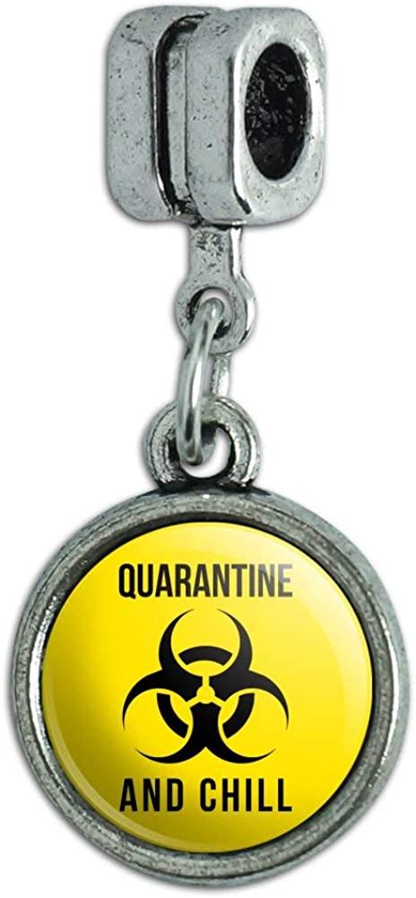 GRAPHICS & MORE Biohazard Quarantine and Chill Italian European Style Bracelet Charm Bead
