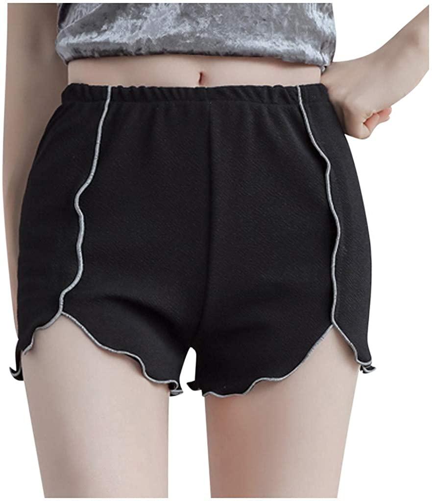 kaifongfu Womens Pajama Shorts Sleep Bottom Lounge Shorts Safety Pants Loose Casual