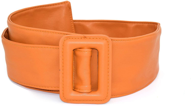 TeeYee Women Girls Extra Wide Waist Belt Big Buckle Design Obi Belt