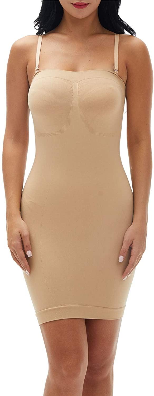 Franato Women's Shapewear Full Control Slip Dress Body Shaping Layering Cami Shaper Smoother No Pad