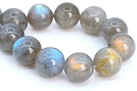 MYNAMI- 11-12MM Genuine Natural Gray Labradorite Beads Madagascar AAA Round Beads 7.5