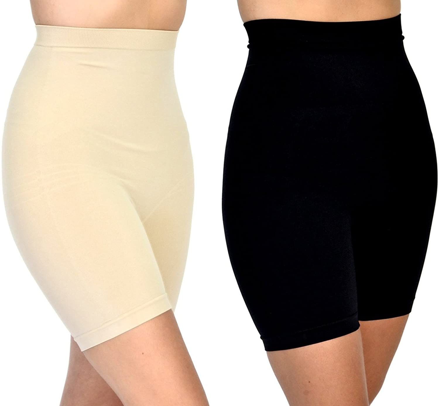 Patricia Anti-Bacterial Tummy Control Spandex Shorts 2Pack