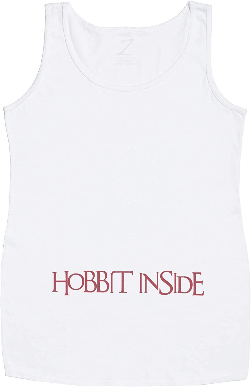 Hobbit Inside Maternity Vest Top - Maternity Clothing - Maternity Gift - Gift for Mum to Be - White