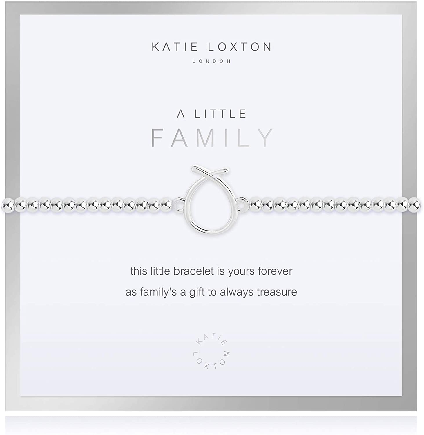 Katie Loxton a Little Family Womens Stretch Adjustable Band Fashion Charm Bracelet