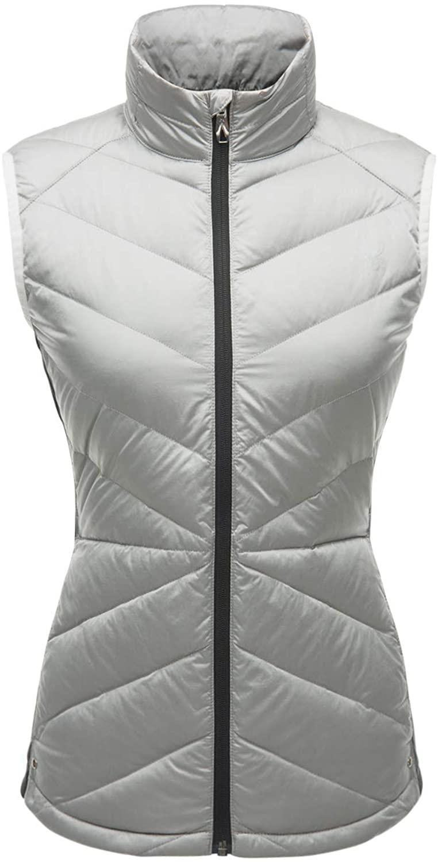 Spyder Womens Solitude Down Vest, White/Black, Small