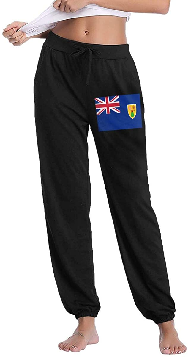Women's Casual Sweatpants Flag of The Turks and Caicos Islands Fitness Training Jogger Pants