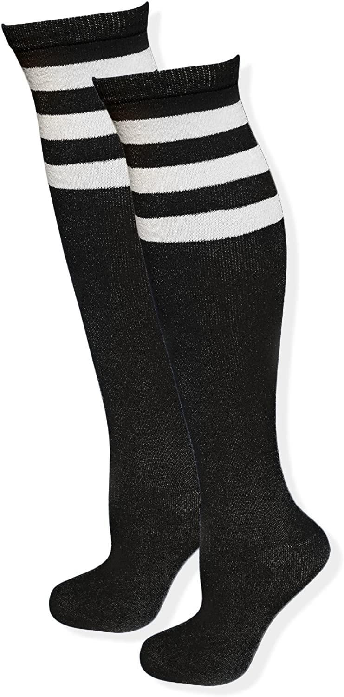 Blostirno Referee Triple-Stripe Knee-High Socks Over the Knee