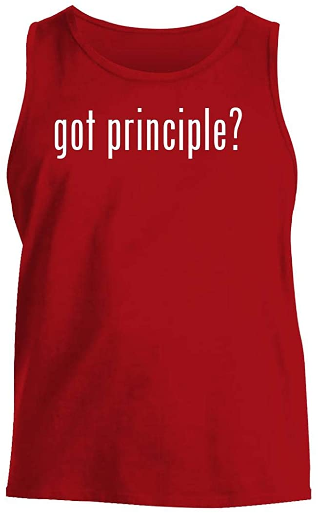 got principle? - Men's Comfortable Tank Top, Red, X-Large