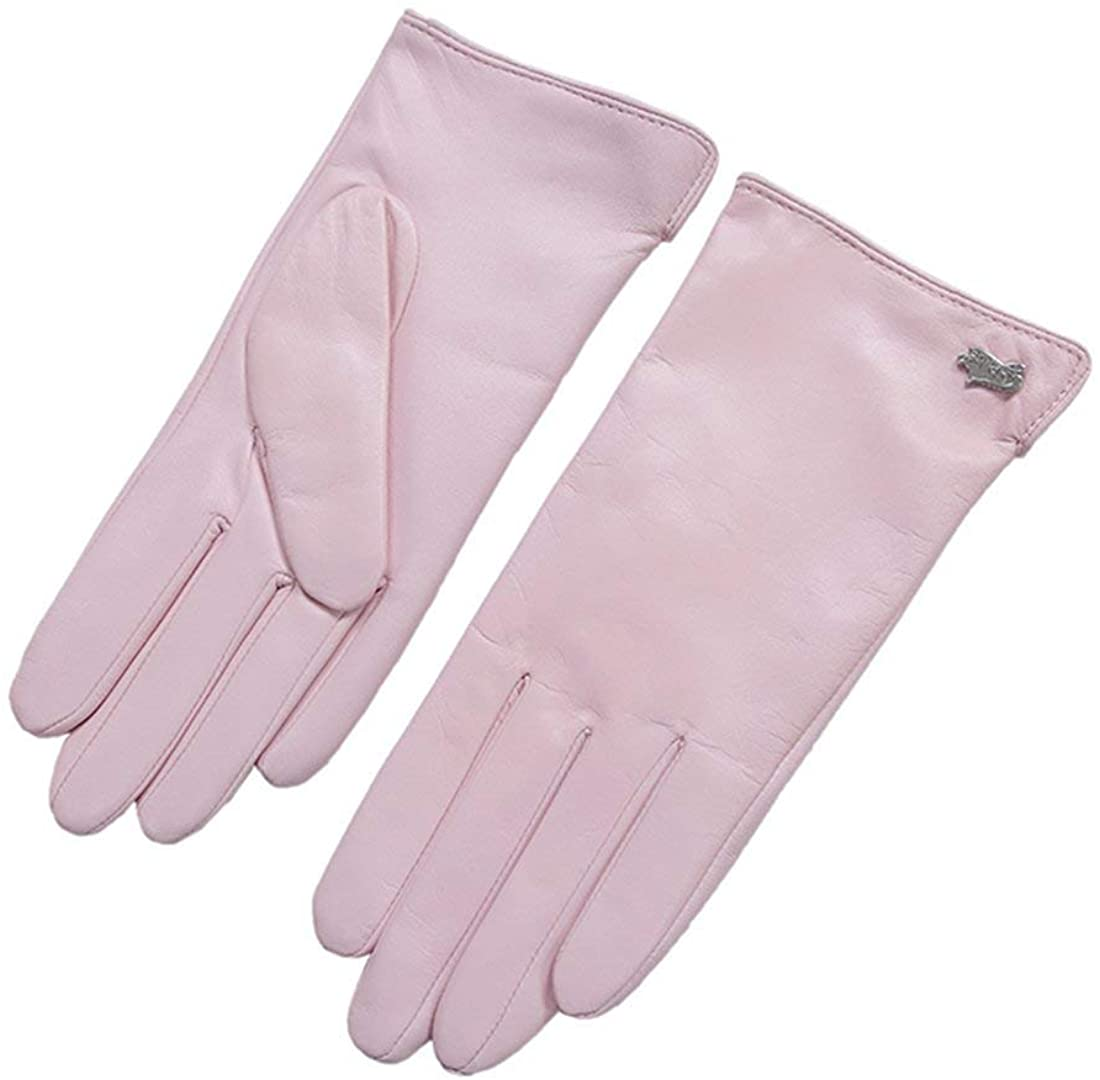 Nappaglo Nappa Leather Gloves Warm Lining Winter Multicolor Lambskin for Women