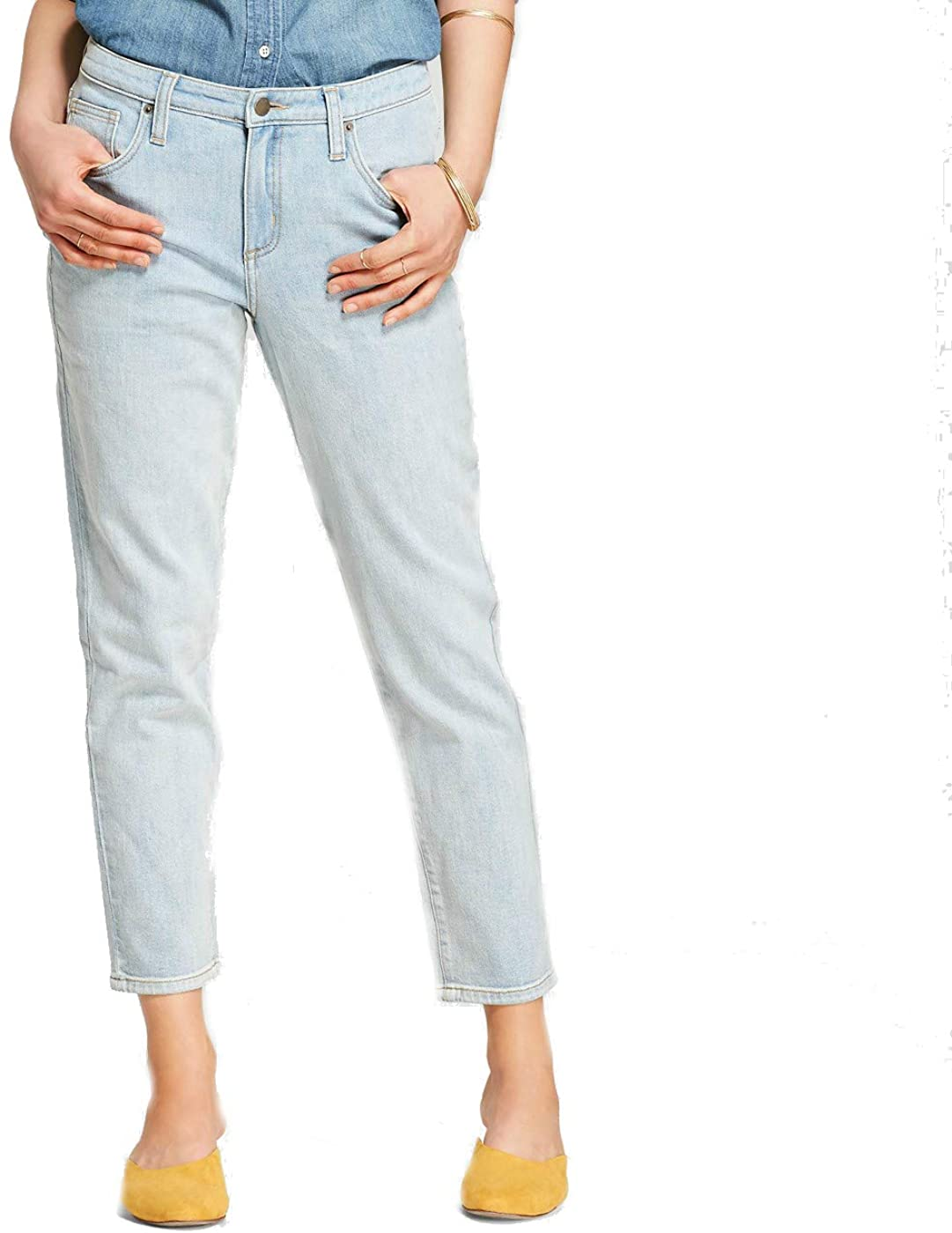 Universal Thread Women's High-Rise Straight Jeans Light Wash, Blue