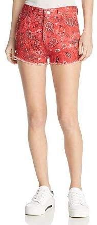 Iro. Jeans Omiandato Bandana Shorts Red Size 25