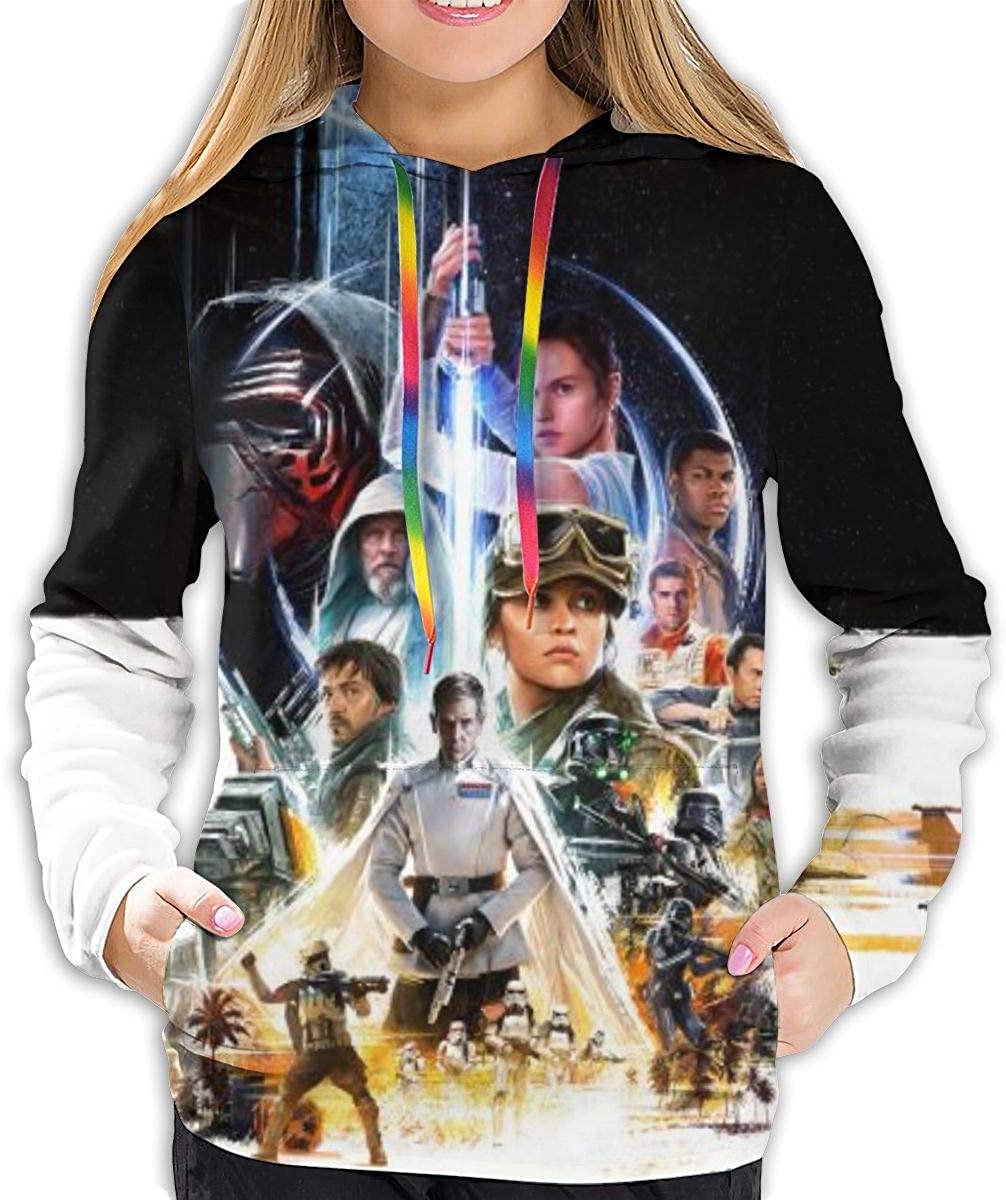 Movie Star War Women's Hoodies 3D Print Pullover Tops Sweatshirt-