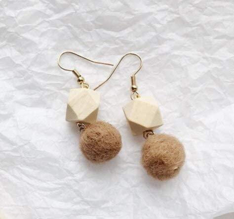 Harva Sales Promotions Women Fashion Stud Earrings Winter Christmas Gifts for Girls Sweet Elegant Ladies Ear Cuff Jewelry Earring - (Metal Color: Khaki, Main Stone Color: Ear Hook)