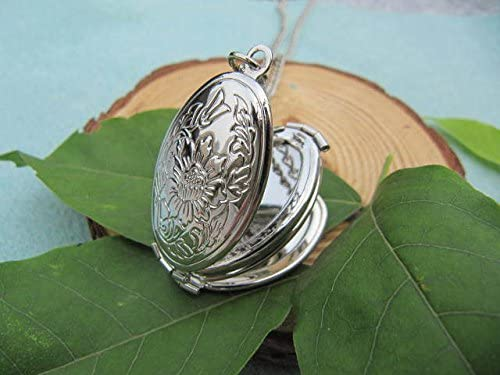The Silver fold Locket Necklace Antique Personalized Jewelry Steampunk Unique Gift Vintage Bronze