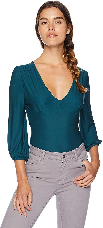 BB Dakota Women's Let It Happen Knit Bodysuit, Evergreen, Extra Small