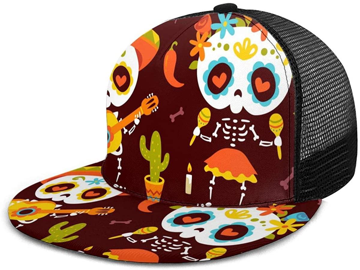 Snapback Hat Provence Country Style Vector Baseball Cap Flat Brim Sun Visor Hat for Women Men