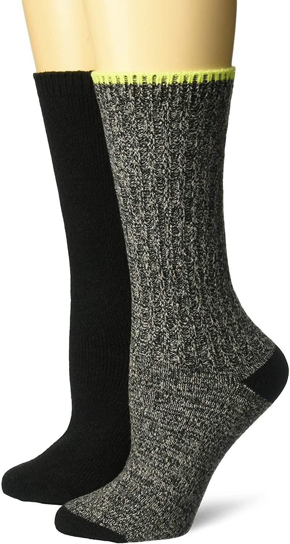 Steve Madden Legwear Women's 2PK Boot Sock SM42224