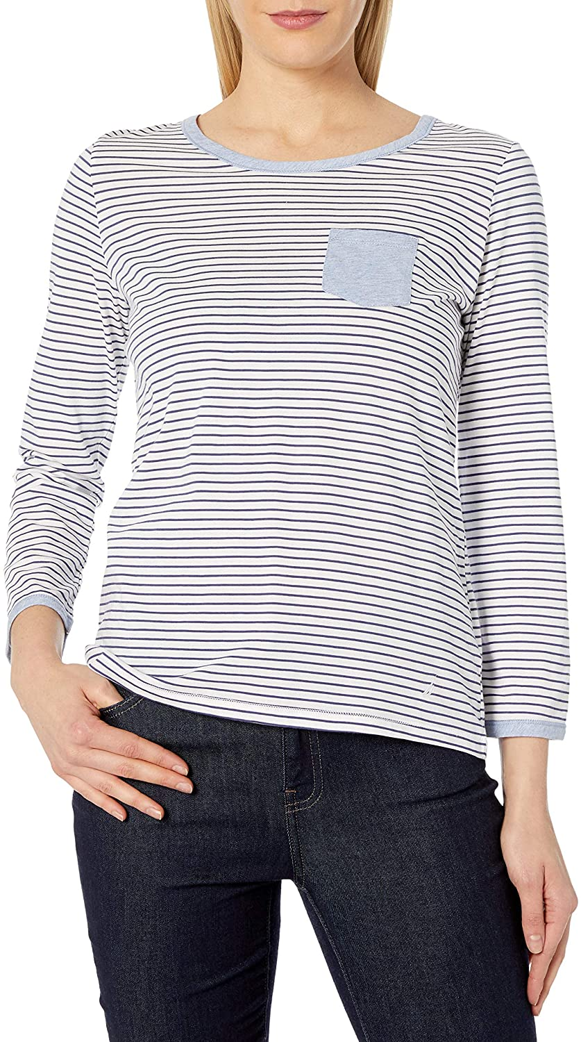 Nautica Women's Knit Lounge Striped Top