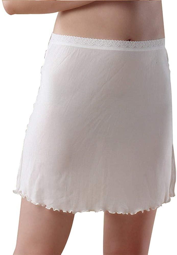 Idealady Women's 100% Silk Half Slips Knitted Underskirt Petticoat Undergarments for Women