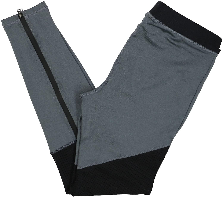 HUE Women's Moto Active Mesh Leggings (Grey, Large 12-14)